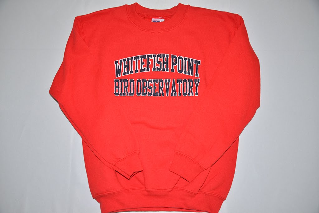 Kids Whitefish Point Bird Observatory Sweatshirt in Red